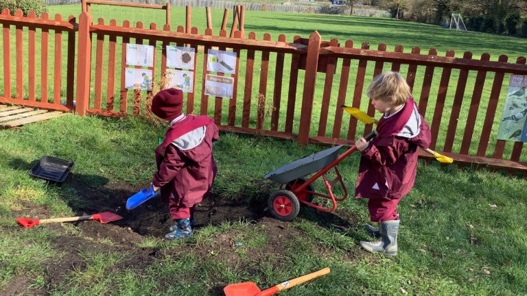 Play video: Gardening in nursery